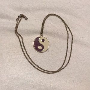 Yin and Yang Outer Space Necklace